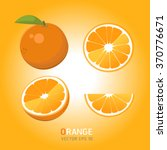 vector oranges set | Shutterstock .eps vector #370776671