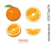 vector oranges set   Shutterstock .eps vector #370776674