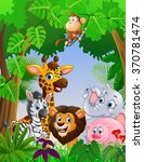 collection animal safari in the ... | Shutterstock .eps vector #370781474