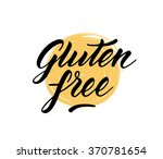 gluten free label. hand drawn... | Shutterstock .eps vector #370781654