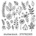 hand drawn vintage floral... | Shutterstock .eps vector #370782305