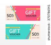 vector gift voucher template | Shutterstock .eps vector #370786541
