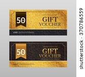 vector gift voucher template | Shutterstock .eps vector #370786559