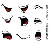 cartoon maker  mouths set | Shutterstock .eps vector #370790405