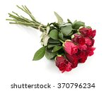 Stock photo bunch of red roses isolated on white background 370796234