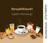 breakfast background with... | Shutterstock .eps vector #370798991