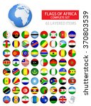 round glossy flags of africa... | Shutterstock .eps vector #370803539