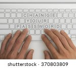 top down view of keyboard with... | Shutterstock . vector #370803809