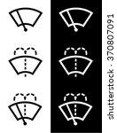 vector windshield wiper icon set | Shutterstock .eps vector #370807091