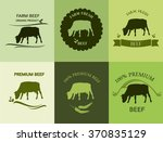 set of premium beef labels ... | Shutterstock .eps vector #370835129
