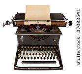Vintage Typewriter  With Sheet...