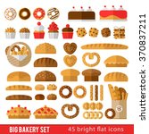 large set of icons in a flat... | Shutterstock .eps vector #370837211