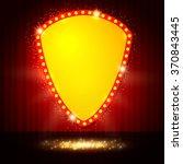 shining retro casino banner on... | Shutterstock .eps vector #370843445