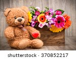 beautiful flowers in the box... | Shutterstock . vector #370852217