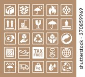 carton cardboard box icons.... | Shutterstock .eps vector #370859969