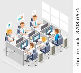 work space isometric flat style.... | Shutterstock .eps vector #370859975