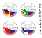 symbol handshake russia with... | Shutterstock .eps vector #370861721