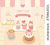 vector the cake coffee in the... | Shutterstock .eps vector #370862021