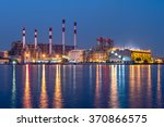 power station at night | Shutterstock . vector #370866575