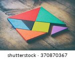 Stock photo image of retro tangram puzzle retro style image 370870367