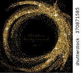 golden glitter border... | Shutterstock .eps vector #370871585