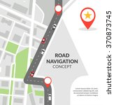 road navigation concept with... | Shutterstock .eps vector #370873745