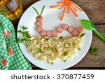 funny caterpillar of sausages... | Shutterstock . vector #370877459