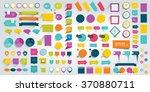 mega set of infographics design ... | Shutterstock .eps vector #370880711