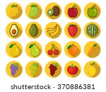 fruit icons | Shutterstock .eps vector #370886381