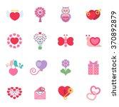 Love Icons Set. Love Icons Fla...