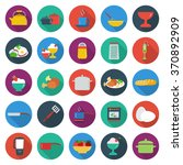 food icons set.   Shutterstock .eps vector #370892909