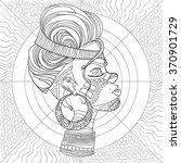 doodle vector monochrome...   Shutterstock .eps vector #370901729