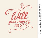 "lettering card ""will you marry... 