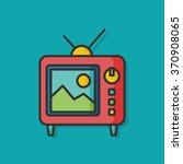 tv technology vector icon | Shutterstock .eps vector #370908065
