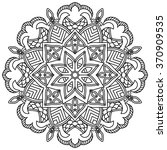 mandala. vintage round ornament ...   Shutterstock .eps vector #370909535