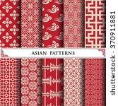 asian vector pattern pattern... | Shutterstock .eps vector #370911881