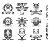 set of vintage ice hockey... | Shutterstock .eps vector #370914041
