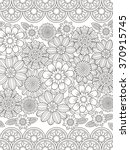 lovely floral coloring page in... | Shutterstock .eps vector #370915745