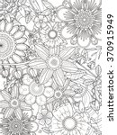 attractive floral coloring page ... | Shutterstock .eps vector #370915949