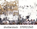 Old Ragged Wall With Pieces Of...