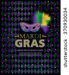 mardi gras holiday. vector... | Shutterstock .eps vector #370930034