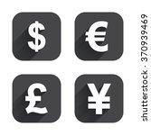dollar  euro  pound and yen...   Shutterstock .eps vector #370939469