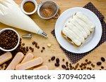 cooking tiramisu concept step... | Shutterstock . vector #370940204