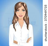 beautiful smiling business... | Shutterstock .eps vector #370949735