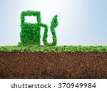green energy concept with grass ... | Shutterstock . vector #370949984