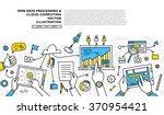flat style  thin line art... | Shutterstock .eps vector #370954421