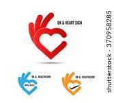 creative hand and heart shape... | Shutterstock .eps vector #370958285