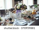elegant table arrangement and... | Shutterstock . vector #370959881