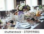 elegant table arrangement and... | Shutterstock . vector #370959881