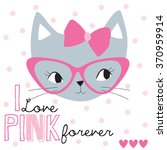 pretty cat face vector... | Shutterstock .eps vector #370959914